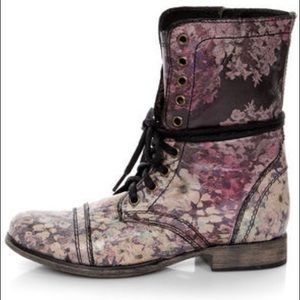 Steve Madden Floral Purple Troopa Boots